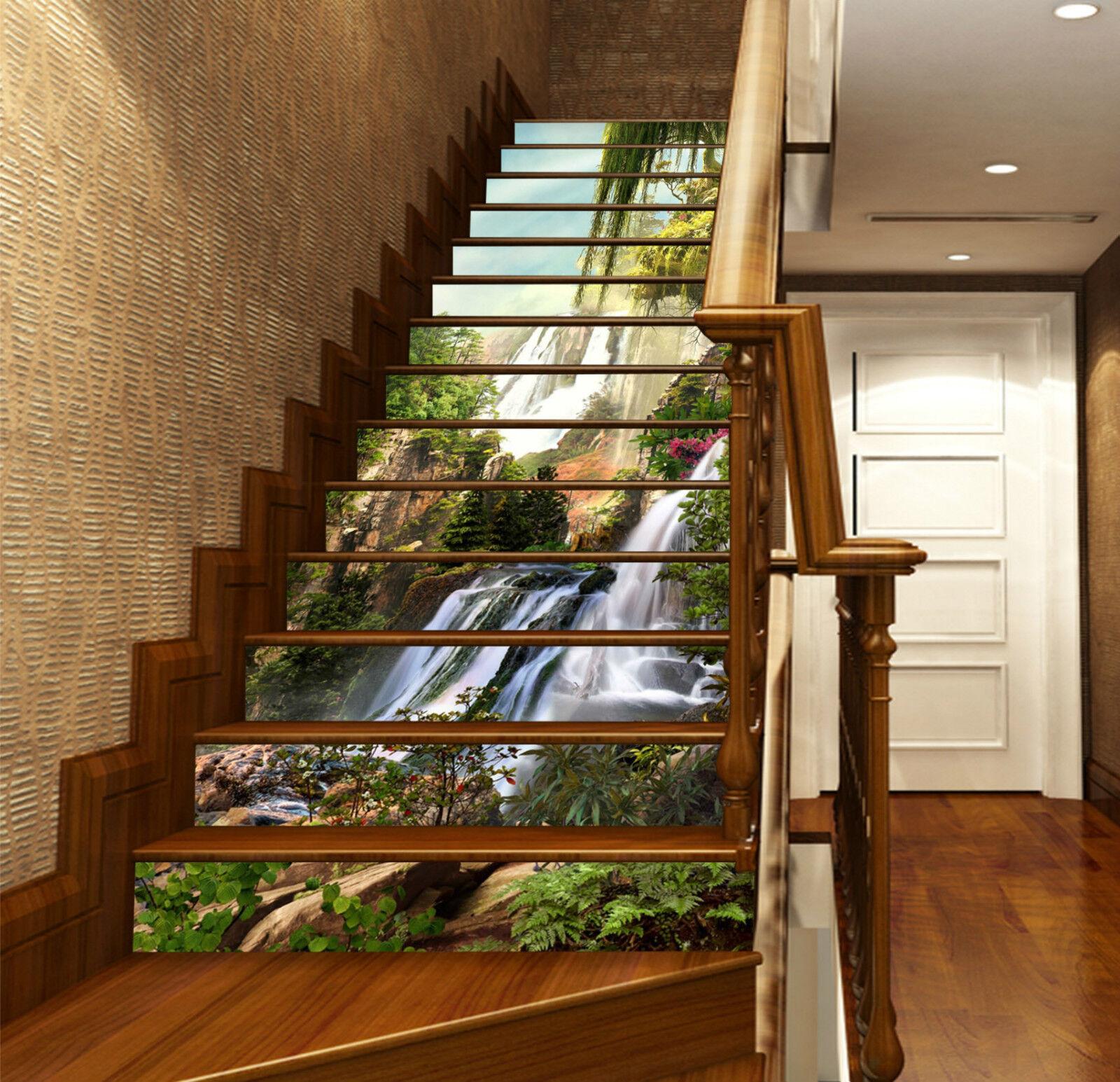 3D Feenland 255 Stair Risers Dekoration Fototapete Vinyl Aufkleber Tapete DE