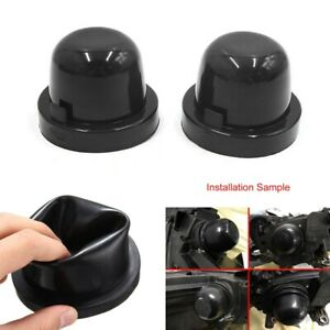 2x-65mm-Car-LED-Light-Dust-Cover-HID-Headlight-Rubber-Housing-Seal-Cap-amp