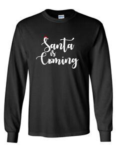 Mens-Santa-Is-Coming-T-Shirt-Funny-Cute-Christmas-T-Shirt-Holiday-Long-Sleeve