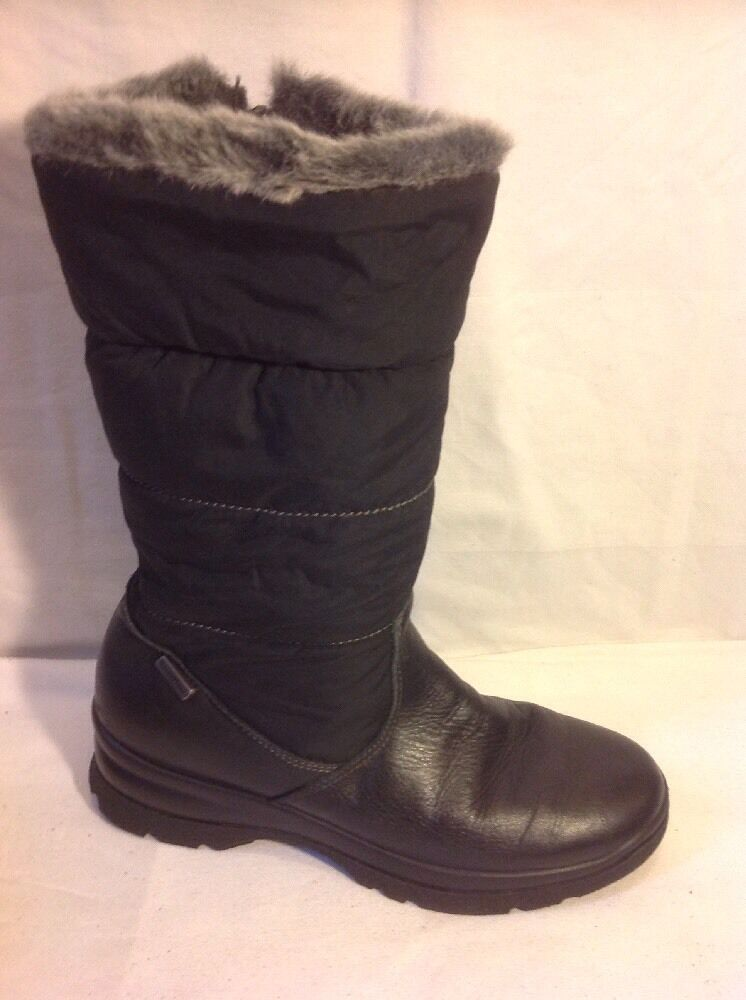 Van Dal Black Mid Calf Leather Boots Size 36