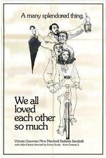 WE ALL LOVED EACH OTHER SO MUCH Movie POSTER 27x40 Nino Manfredi Vittorio