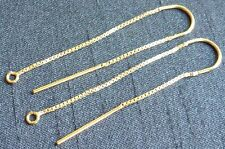 14/20 Gold filled  box chain ear threads earring supplies jewelry findings