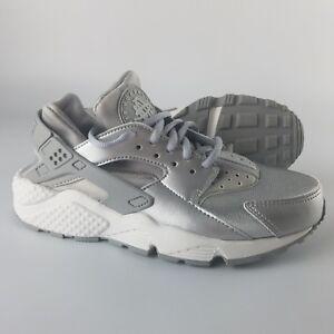 Details about Nike Women's Air Huarache Run SE Running Shoes Metallic Silver Matte 859429-002