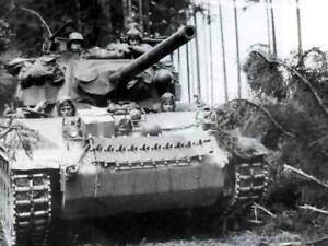 WWII-Photo-Light-Tank-at-Battle-of-Bulge-WW2-World-War-Two-US-Army-Armor