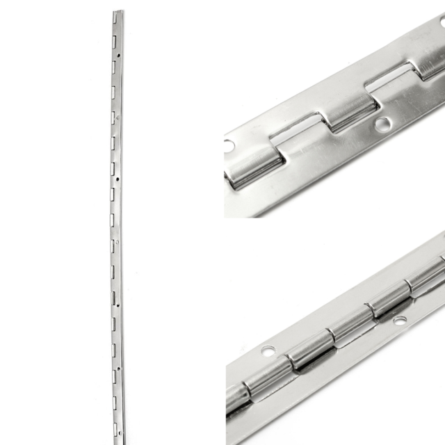 ONE PIECE Stainless Steel 17 X 3//4 Inch Boat Piano Hinge Serviceable