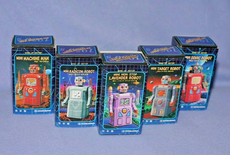 Masudaya Complete Set  Gang of Five  Vintage Robot Reproductions 1997