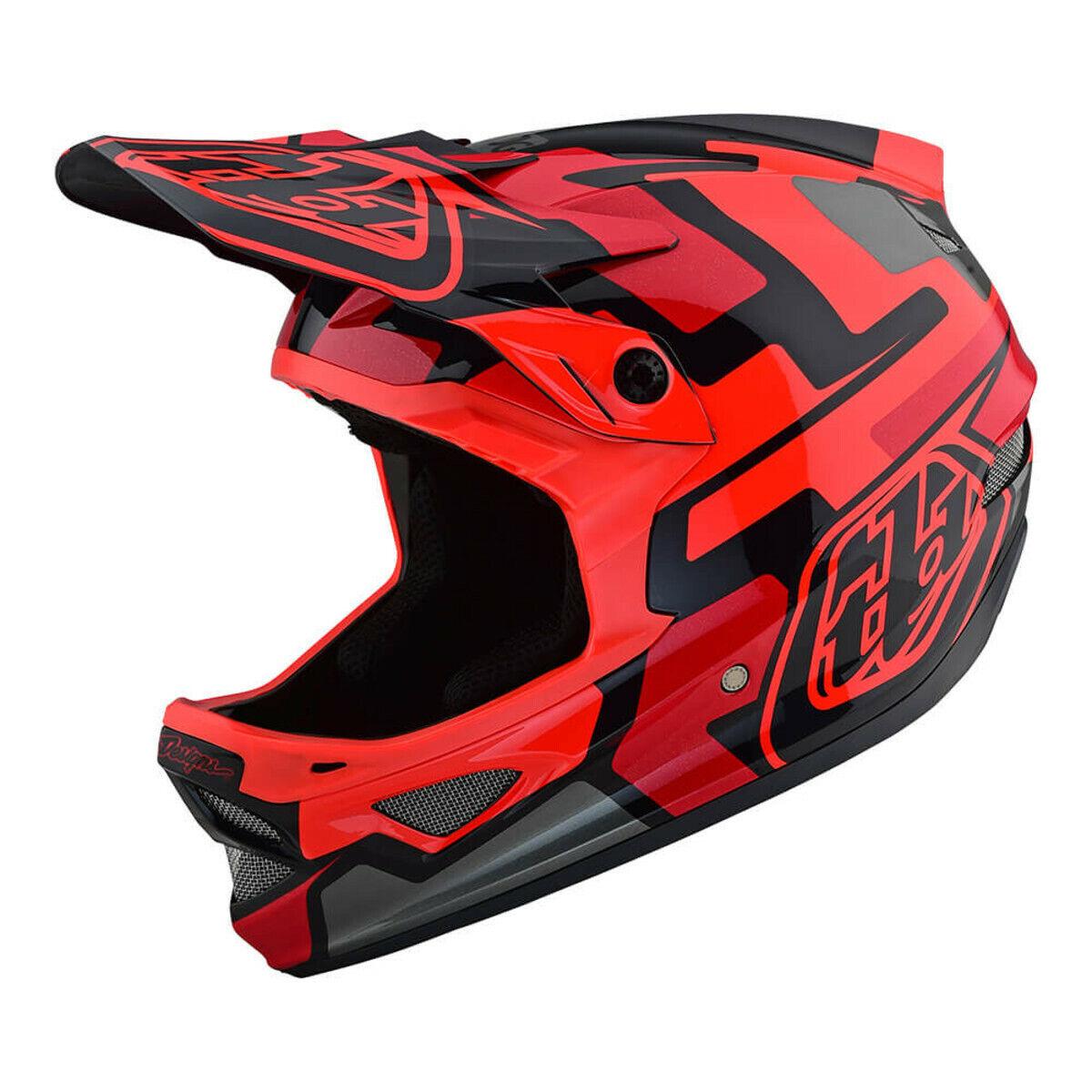 Troy Lee Designs D3 Fiberlite Speedcode Helmet rosso SM