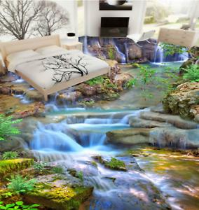 3D Forest Creek 532 Impresión De Parojo Papel Pintado Mural de piso 5D AJ Wallpaper Reino Unido Limón