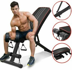 Indoor-Folding-Weight-Bench-Gym-Lifting-Dumbbell-Abs-Chest-Press-Adjustable-UK