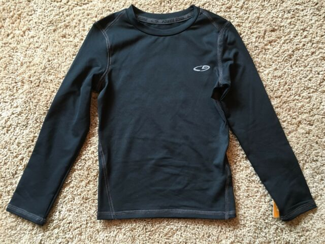6468892e32e2 Boys Black Long Sleeve Champion Duo Dry Max Top XS 4/5 for sale ...