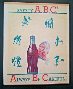 Coca Cola Notepad Safety ABC Always Be Careful 1949 Coke Unused
