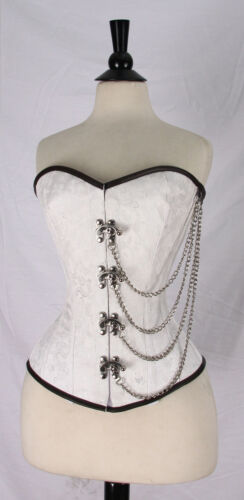 Lace Up New Over bust Steam Punk Brocade Corset