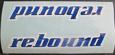 "Set of 2 (5"" Inch)) GT REBOUND Frame/Forks? /Decal Stickers BLUE/BLACK/WHITE"