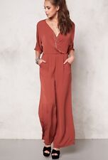 Vero Moda Joan Jumpsuit Medium Henna Wrap Crossover Wide leg Stunning