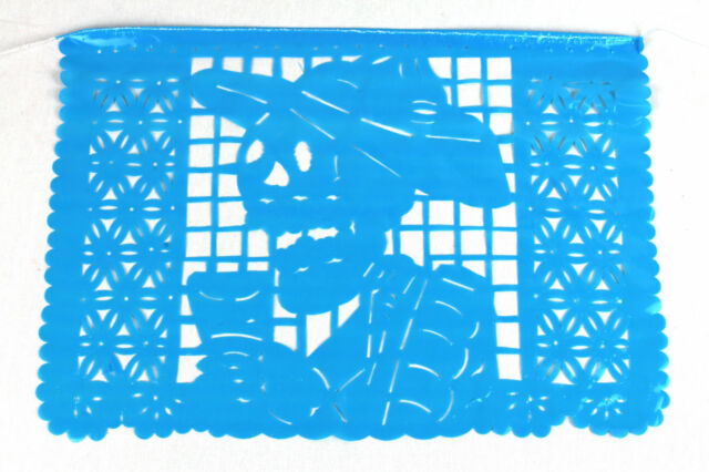 Set of five (5) day of the Dead Mexican papel picado banner bunting plastic