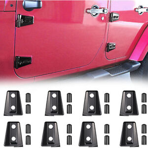 2017 Jeep Wrangler Unlimited Accessories >> Details About 8 Sets Door Hinge Cover For 2007 2017 Jeep Wrangler Jk Jku Unlimited Accessories