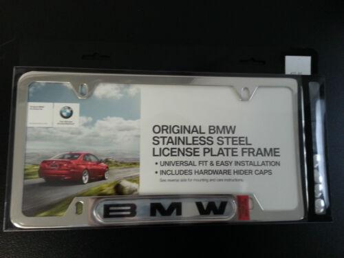 BMW License Plate Frames OEM Chrome Black from Dealer