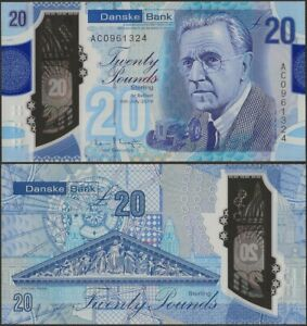 Northern Ireland 20 Pounds Danske Bank UNC,2019/20 Polymer,H Ferguson,B504a@ EBS