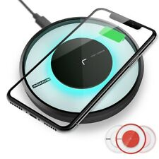 Qi Fast Wireless Charger Charging Pad for iPhone 11/Pro/Max/XS/8/Note 10/S10/+