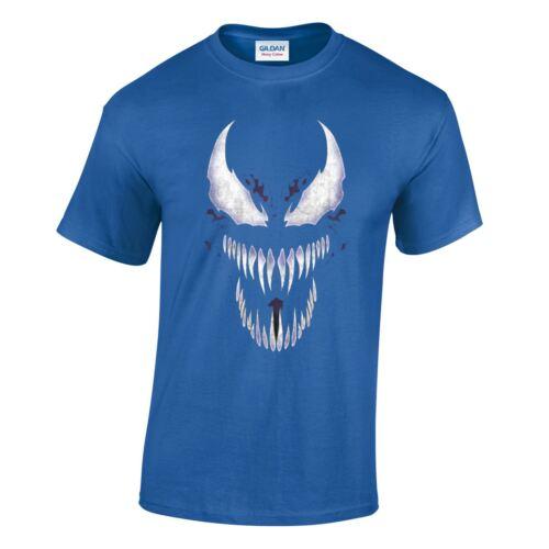 Venom MARVEL HORROR Denti Lunghi da Uomo Fumetto T Shirt pantalone uomo regalo Unisex T-shirt