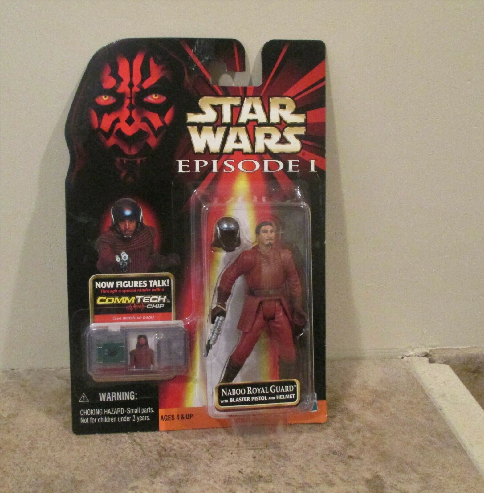 '99 Star Wars Episode 1 Naboo Royal Guard TPM Commtech Hasbro Lucas Films