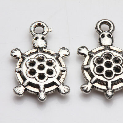 Mixed Shape&Size&Quantity Tibetan Silver Charms Spacer Beads Jewelry Finding DIY