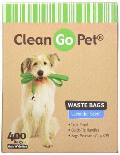 400-Count Clean Go Pet Lavender Scent Doggy Waste Bags Quick-Tie Handles Poop