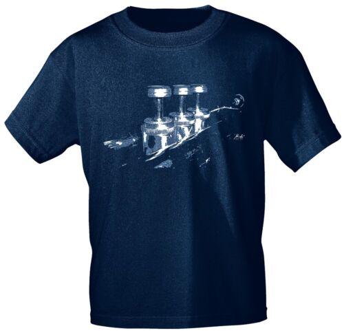 Designer Brands Music T-Shirt Zoom Trumpet Rock You Shirts 10389 Navy