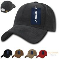 Decky 6 Panel Corduroy Low Crown Pre Curved Bill Dad Caps Caps Hats Hat