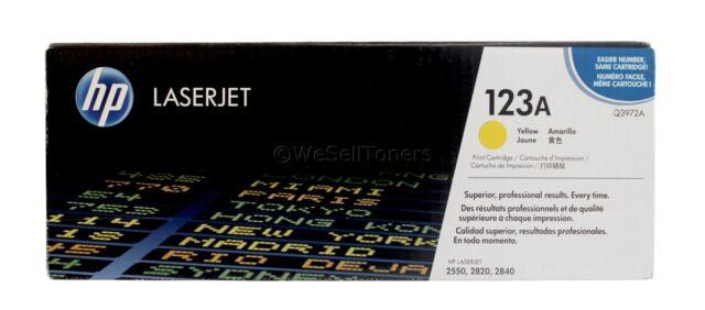 HP Q3972A Yellow Toner Cartridge 123A Genuine New Sealed Box