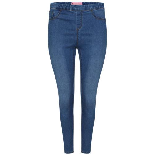 NEW Womens Skinny Stretchy Denim Ladies Elasticated Wasist Jeggings Size 6-28