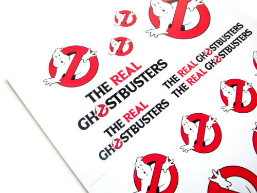 GHOSTBUSTERS /'NO GHOSTS/' LOGO SET2 THE REAL GHOSTBUSTERS /'DIE CUT/' STICKERS
