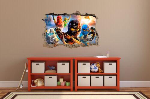 WALL STICKERS Hole in the wall LEGO NINJAGO Sticker Vinyl Decor Mural 80