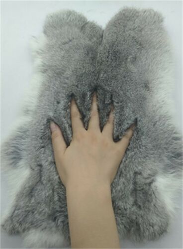 1x High Grade Real Rabbit Fur Pelt Rabbit Skin For Pets Clothes Bag Shoes DIY US