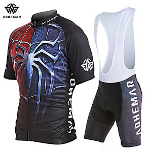Image is loading Men-Spiderman-Cycling-Jersey-Sports-Breathable-Cycling- Clothing- 95966e9f8