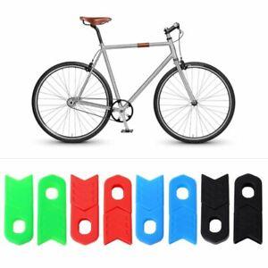1-Set-Bicycle-Crank-Arm-Cover-Universal-Silicone-MTB-Bike-Crank-Set-Protective
