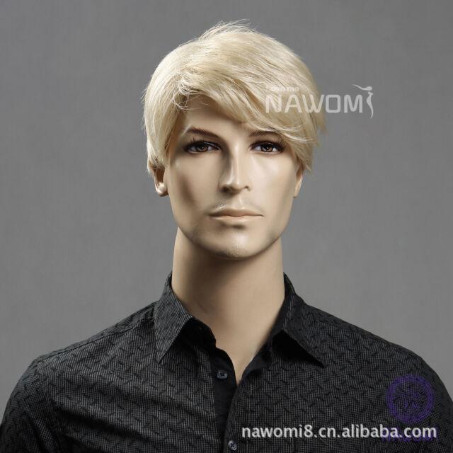 Men's Wig Light Blonde Fashion Short Hair Short Hair Wig Beautiful