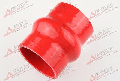"""51mm 2/"""" Hump Straight Silicone Hose Intercooler Coupler Tube Pipe Black"""