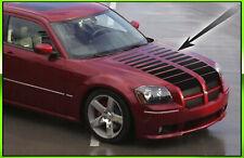 Strobe Hood Stripes Fits 2005 2009 Dodge Magnum Rt Sxt Srt8