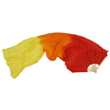 1.8m Hand Made Colorful Belly Dance Dancing Silk Bamboo Long Fans Veils F9m6 R1