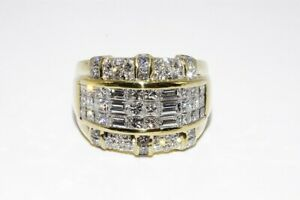 9-000-2-93CT-NATURAL-MULTI-CUT-WHITE-DIAMOND-CLUSTER-RING-18K-YELLOW-GOLD