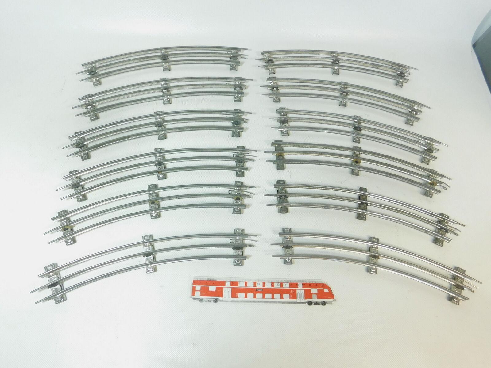 BJ782-2  12x Märklin Spur 0 Gleis 12 er 12er Kreis für elektrischen Betrieb