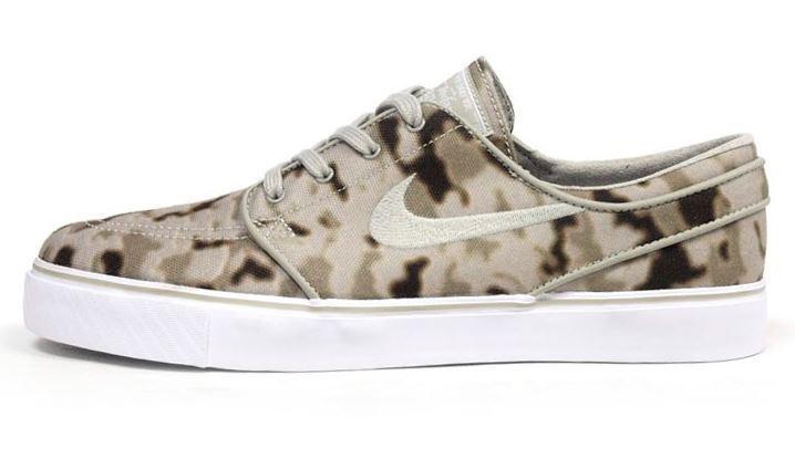 Nike Zoom Stefan Janoski; Gr.41 medium khaki/beige/chalk Blanc 333824 207