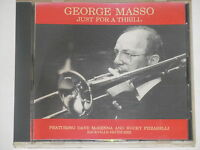 GEORGE MASSO -Just For A Thrill- CD