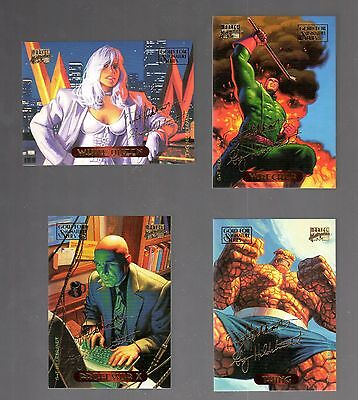 MARVEL MASTERPIECES 1994  TRADING CARDS GOLD FOIL  SIGNATURE CARDS ..CHOOSE