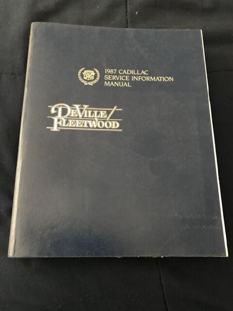 1987 Cadillac Deville Fleetwood Factory Service Manual