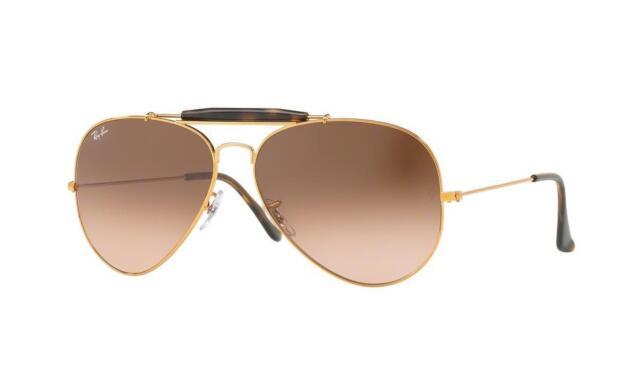 55dce87350 Ray-Ban Outdoorsman II Men s Gradient Sunglasses with Bronze-Copper ...