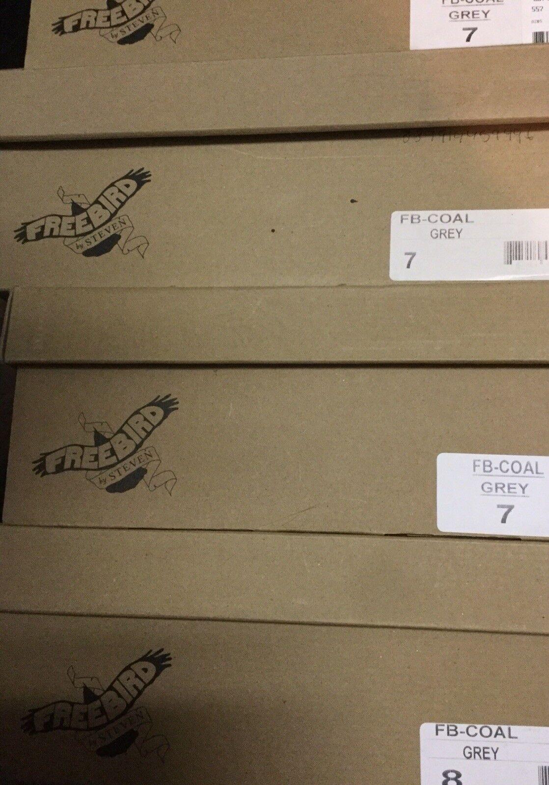FREEBIRD BY STEVEN COAL Grey TALL CORSET BOOT BOOT BOOT NIB size 6  RARE 93b1aa