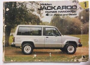 Holden-Jackaroo-Series-Owners-Handbook-Petrol-Diesel-LS-DLX-4WD-Car-Manual