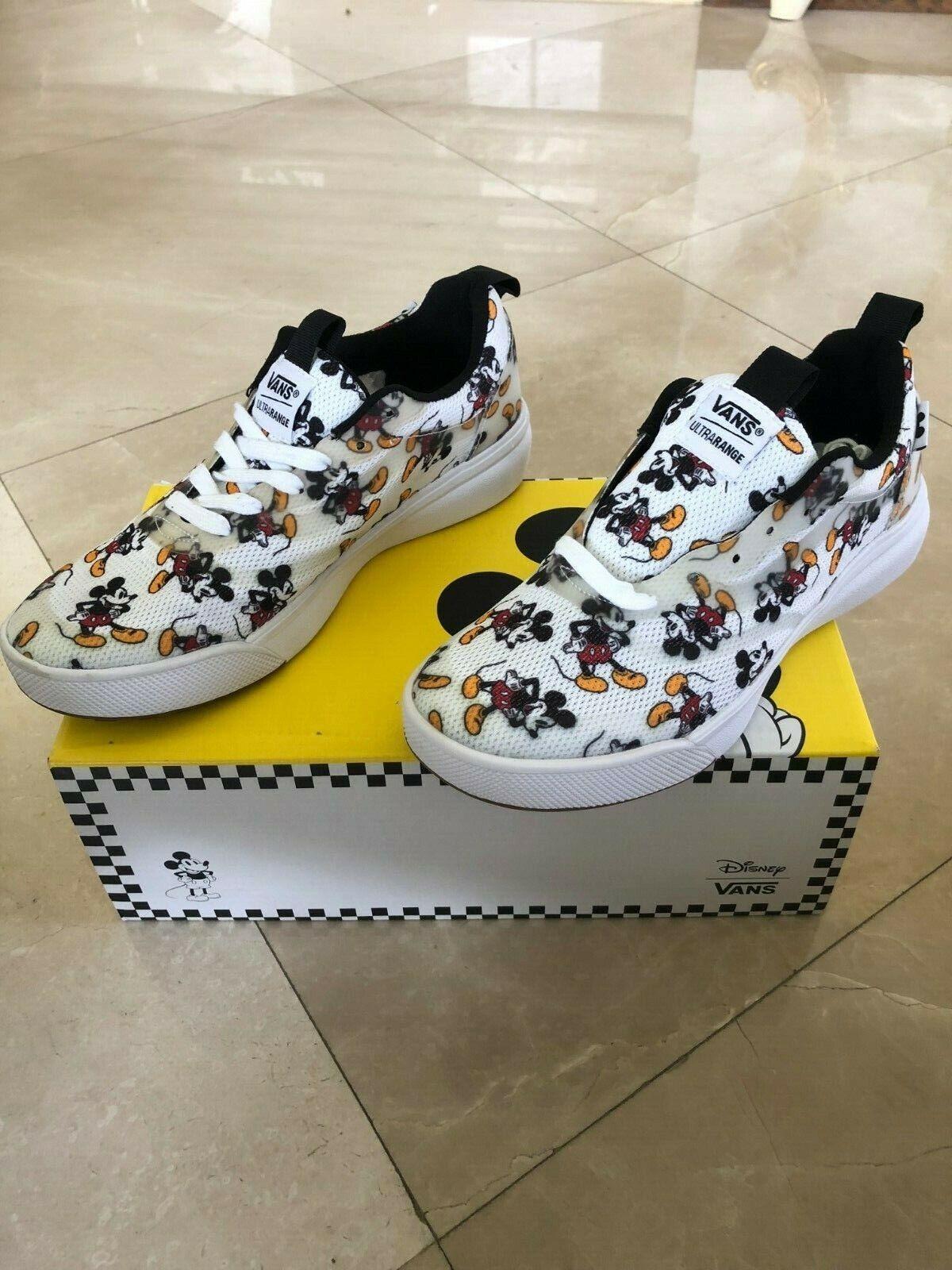 DISNEY X VANS Ultrarange Rapidweld Mickey shoes Men's Size 5 (Women's Size 6.5)